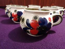 Hát darab Waechtersbach kerámia hasas csésze, kézzel festett, hibátlan, gyönyörű darabok!
