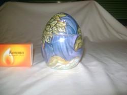 Aszalós-Art Family szecessziós porcelán tojás bonbonier - kézifestés