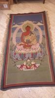 Régi szőnyeg Buddhával 200x106 cm + rojt