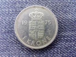 Dánia II. Margit réz-nikkel 1 Korona 1975 S♥B (id17144)