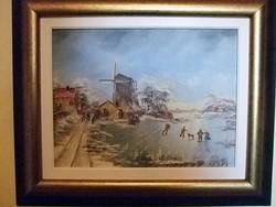 Metz  olaj festménye