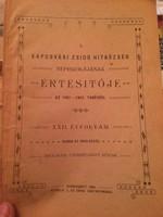 Judaika - ritkaság!!! Zsidó Hitközség Népiskolájának Értesítője. 1901!!!
