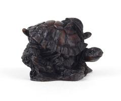 0Z367 Kisméretű műgyanta szerencsehozó teknős