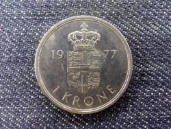 Dánia II. Margit réz-nikkel 1 Korona 1977 S♥B (id17142)