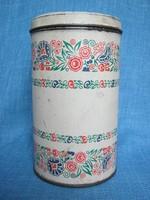 Virágmintás régi fém doboz