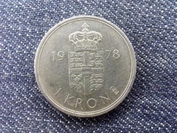 Dánia II. Margit réz-nikkel 1 Korona 1978 S♥B (id17141)