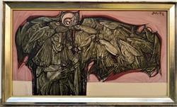 Xantus Gyula (1919 - 1993) Vágyak rajzása c Képcsarnokos olajfestmény 107x50cm EREDETI GARANCIÁVAL !