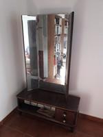 Tükrös fésülködő szekrény - szépítkező, budoir bútor nagyméretű állítható tükörrel