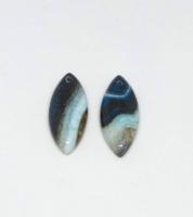 Kék-fekete ónix achát medál gyöngy