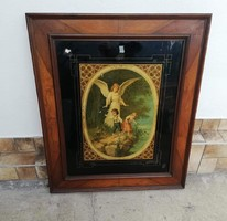 Gyönyörű Őrangyalos 72*85 cm-es nyomat, Gyönyörű keretes, Gyűjtői darab