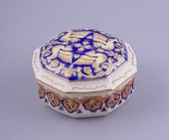 Zsolnay speciális mintájú ékszertartó doboz