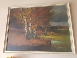Zeller( Peleskey) Mihály festmény- Őszi erdő, 98x73 cm