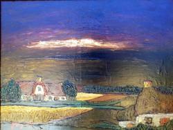VILÁGHÍRŰ festő - BRAM BOGART modern értékes tájképe