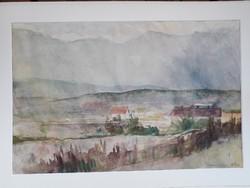 Szőnyi Gyula korai akvarelje