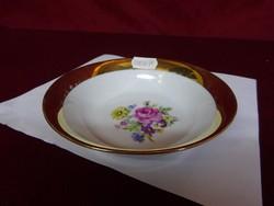 Cseh porcelán, minőségi asztalközép, rózsacsokorral a közepén.