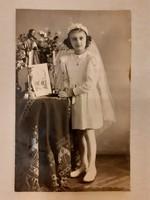 Régi fotó 1940 elsőáldozó kislány fénykép