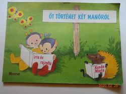 Kende Márta: Öt történet két manóról - régi mesekönyv (1984)