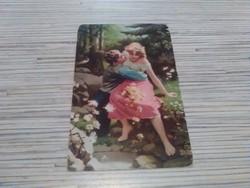 Antik képeslap. Szerelmesek.