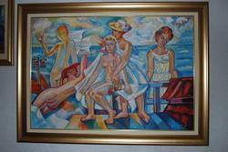 Józsa János festőművész Tengerparti esküvő