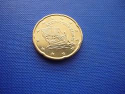 CIPRUS 20 EURO CENT 2016! HAJÓ! ! UNC! RITKA!