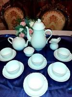 Herendi  fehér  teáskészlet