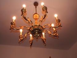 Nagyméretű fa barokk csillár kitűnő állapotban