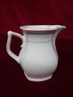 Winterling Bavaria német porcelán tejkiöntő, rózsaszín/szürke csíkkal.