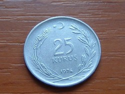 TÖRÖKORSZÁG 25 KURUS 1974 4 g (durva talajon)