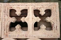 Zsolnay pirogránit épületdísz kerámia szellőző