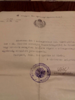 1926. Kinevezés fogházfelügyelővé  a zalaegerszegi kir.törvényszéki fogházhoz és eskütétel igazolás