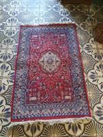 Figurált iráni gyapjú kézicsomózású szőnyeg
