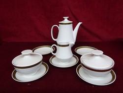 COLDITZ  minőségi német porcelán kávékiöntő 1 db  cukortartó,2 db  tejkiöntő 1 db csésze alátét 5 db