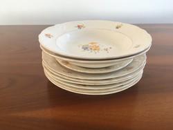 Nagyon régi 9db Gránit tányér, tányérok, mélytányér, lapostányér, kistányér (süteményes tányér)