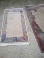 Szőnyeg ,  indiai, gyapjú 140x70 cm