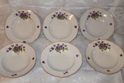 Zsolnay ibolya mintás tányérok