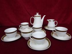 Colditz minőségi német porcelán öt személyes teáskészlet. Vitrinben tartott.