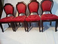 Antik 4 db kárpitos szék