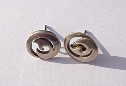 Angol sterling 925-ös áttört mintás kör alakú fülbevaló