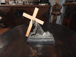 Antik egyház - vallástörténeti relikvia: Íróasztali Jézus-szobor az 1910-20-as évekből