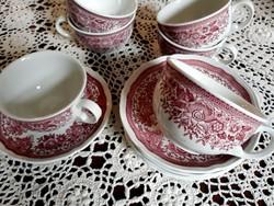 6 szett Villeroy Boch Fasan csészék aljjal