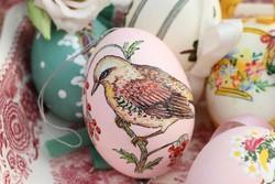 Fújt .kézzel festett tojások 4 darab
