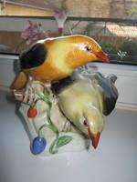 Herendi nagyméretű sárgarigó pár, gyönyörűen festett, régi