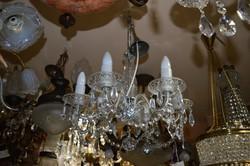 Felújított 6 ágú art deco kristály csillár