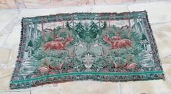 Ritka, Gyűjtői Gyönyörű állatos falikárpit, faliszőnyeg, Őzes, Őzikés, Gyűjtőknek, Vadászoknak
