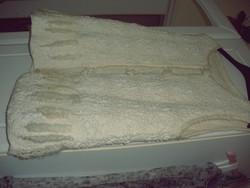 Csipke-nemez felső, kézműves