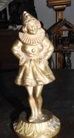 Bohócruhás lány, réz szobor, m: 14 cm