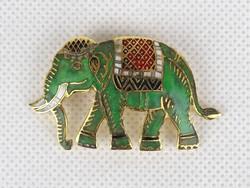 0Z397 Zománcozott réz elefánt kitűző