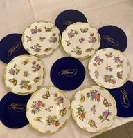 Herendi porcelán süteményes tányér
