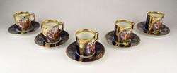 0W632 Régi Altwien porcelán kávéscsésze készlet