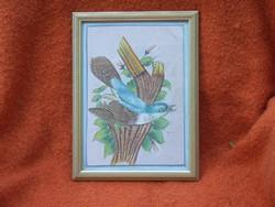Selyemre festett madár kép